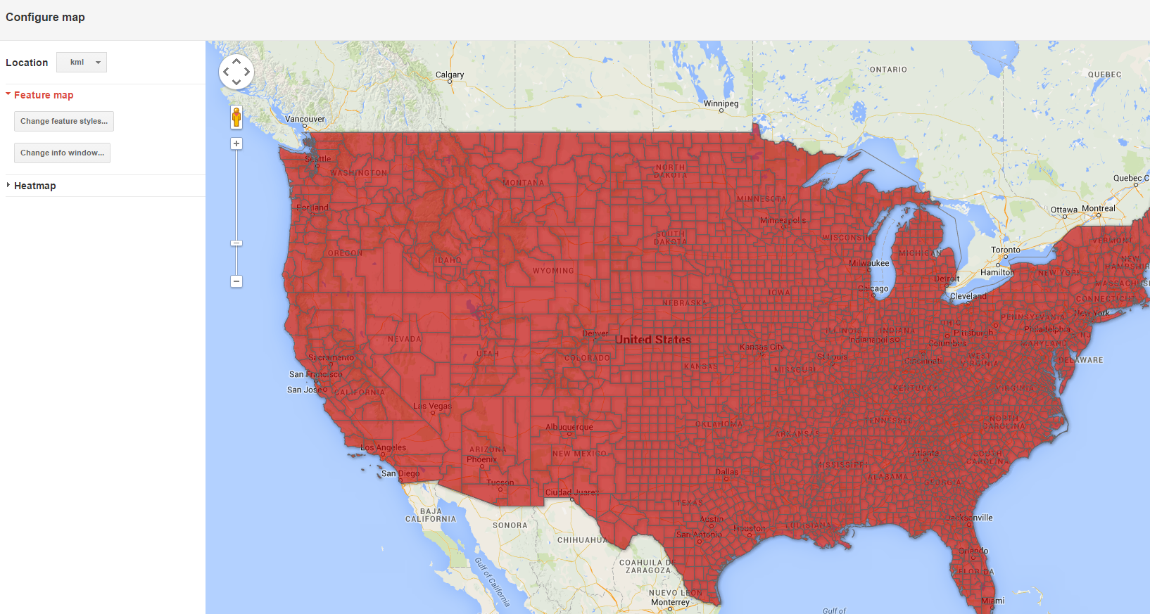 Visualizing Census Data With Google Fusion Tables  Tutorial - Us counties kml